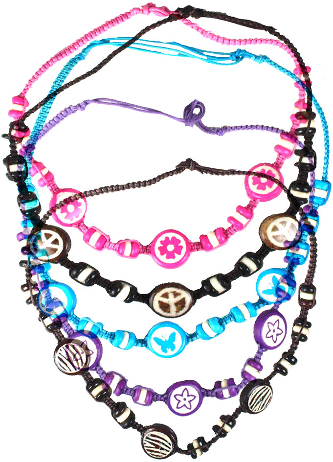 Colored Bone Necklace