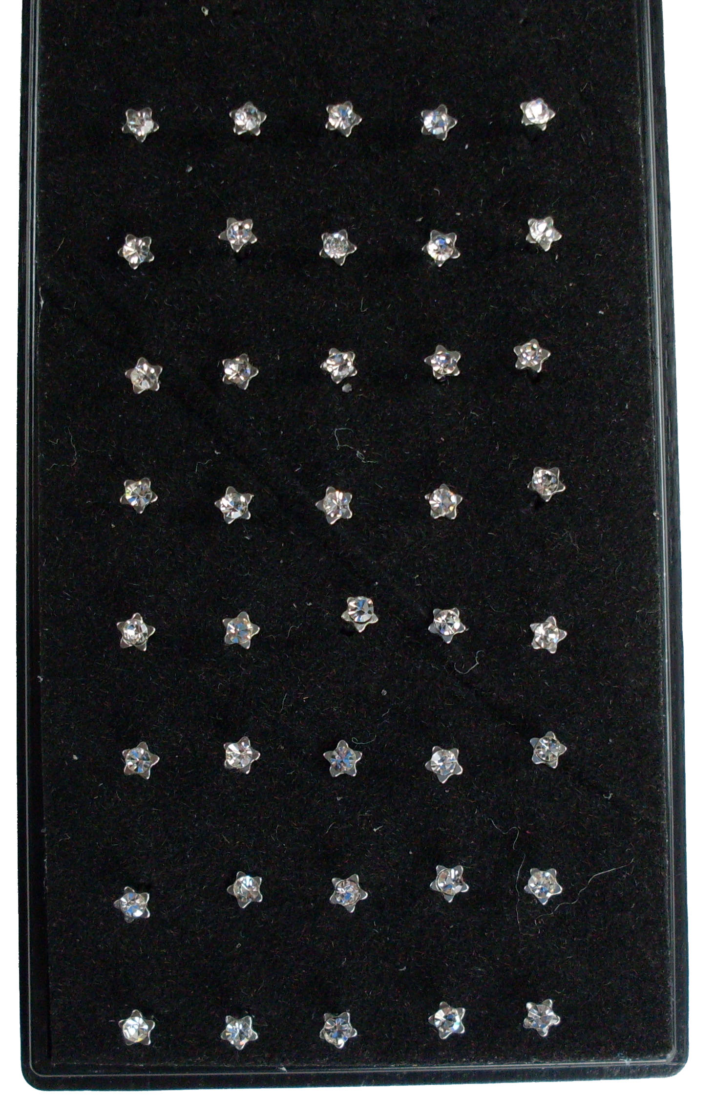 Silver Star Nose Studs